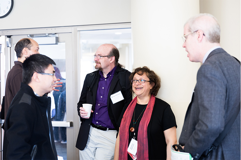 WPI Provost Bruce Bersten engages with UX PhD Students